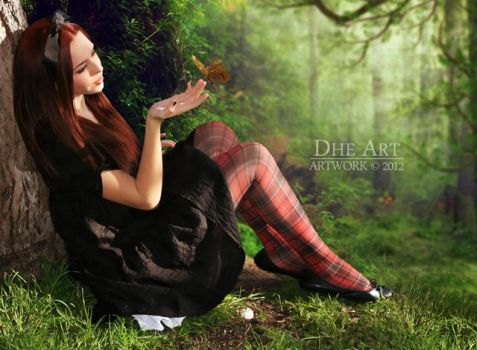 play with butterfly by dhe-art
