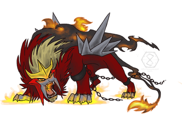 Entei, The Raging Wildfire by 6th-Dimensional