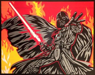 Darth Vader Duct Tape Art by DuctTapeDesigns