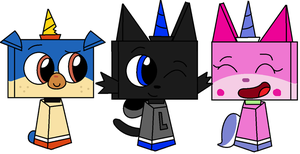 R: Some blocky animals by Mushy-Sugar-Chan