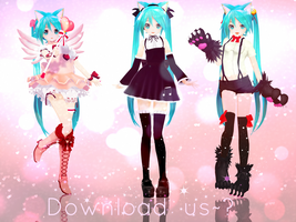 Appearance Costume Miku's *-300 Watchers Gift-* by Crystallyna