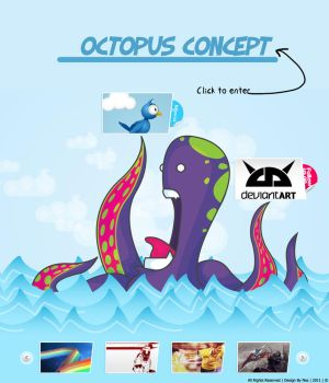 Webdesign Octopus Concept by Nes-Production