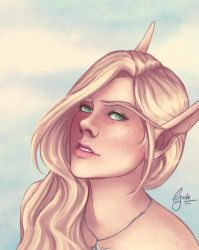 Arylea New Portrait by Lost-Isle