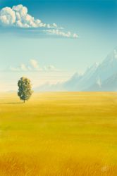 Peaceful valley by Syntetyc