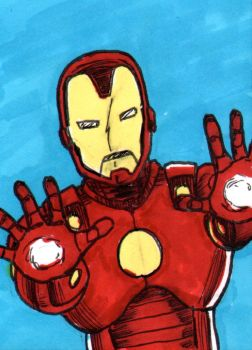 Iron Man Sketch Card - ECCC 2018 by pjperez