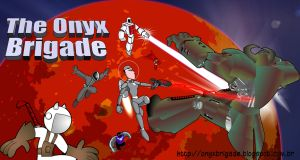 Onyx Brigade webcomic - new header by VictorHugo
