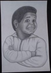 Gary Coleman in Charcoal by subgeek