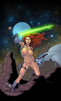 Space Woman - colors (NSFW) by ZethKeeper