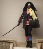 Michonne , The Walking Dead , Custom Doll by cbgorby