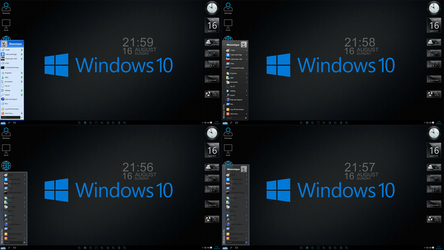 Windows 10 Black edition screen 2 by Moonnique