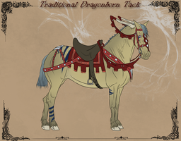 Dragonborn Horse_Traditional Tack by CalyArt
