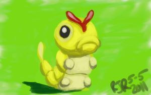 Shiny Caterpie by catgir