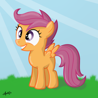 Excited Scootaloo by ApolloBroDA