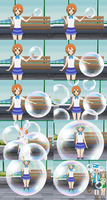 Rin trapped inside magic soap bubble by sunnyDg