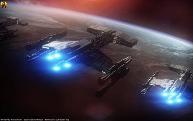 Starcraft Terran Battlecruisers by Euderion
