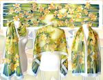 silk scarf Daffodil - ready on Etsy! by MinkuLul