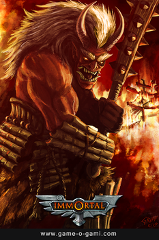 Immortal - Oni - card game illustration by gameogami