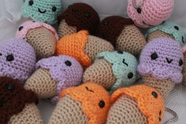 Ice Cream Cones - for sale on Etsy by theyarnbunny