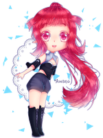 [Speedpaint] Chibi commission for Risaru by Awato