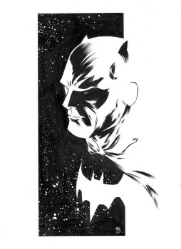Batman [Pencil and ink on paper - A4] by LudoDRodriguez