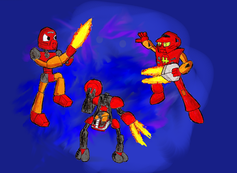 Triplets of Fire by Timscorpion