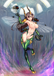 Beelzebub Queen of Gluttony nude by ADSouto