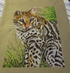 Ocelot Cross Stitch by silverdragoness
