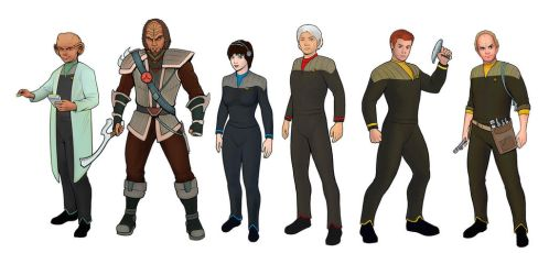 Star Trek Campaign Characters by Axbatler