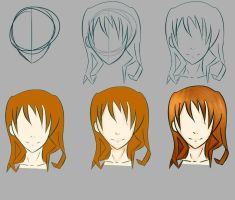 Tuto heads step by step by Julia-Huber
