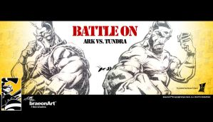 BATTLE ON ARK vs TUNDRA by braeonArt
