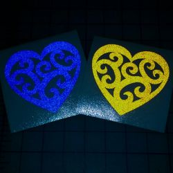 Reflective tribal heart decals by bigblued