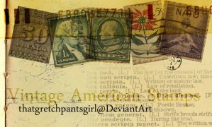 Vintage American Stamps by thatgretchpantsgirl
