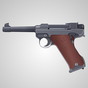 Lahti L-35 Semi-Automatic Pistol by graphicamilitare