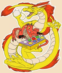 Pop'n Dragons (T-shirt print) by TargonRedDragon
