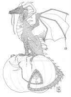 Halloween Dragon 2 Ink by Scellanis