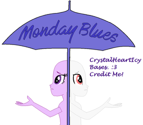 Mlp eg Base #1 Monday Blues by CrystalHeartICY