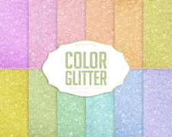 Glitter Digital Paper Color Glitter by DigiWorkshopPixels