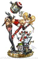 Steampunk Harley Quinn by jamietyndall