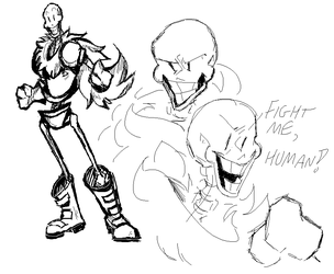 (February 2018) Papyrus Doodle by chaoticdoodler