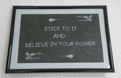 Stick to it and believe in your power by GameofThreads