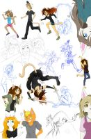 Many unfinished drawings by NinjaTanner