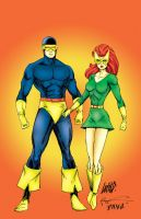 Cyclops and Marvel Girl - Rob Liefeld by pascal-verhoef
