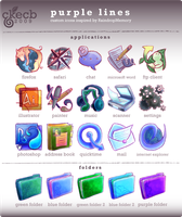 Purple Lines Icon Set by Hanyuse