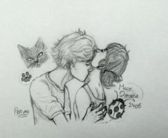 Adrienette neck kiss (miraculous ladybug) by moondaneka