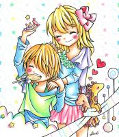Rinki and Dyea by Colorful--Melody