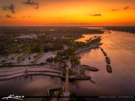 Dubois-Sunset-Aerial-Photo-Over-Bridge-After-Hurri by CaptainKimo