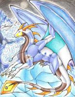 Commisson for Sunrise-LoneWolf: Ice Dragon Cykron by Trucy757