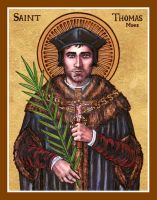 St. Thomas More icon by Theophilia
