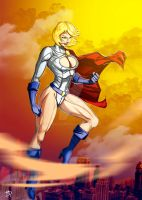 Power Girl by Madboy-Art