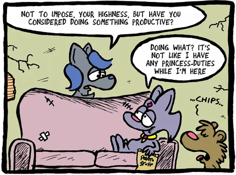 THE FUZZY PRINCESS (3-16-2018) by bakertoons